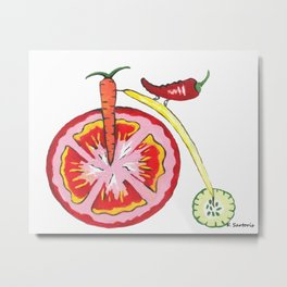Veggie Bike Metal Print