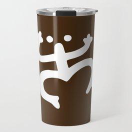 Coqui Taino - White & Brown Travel Mug