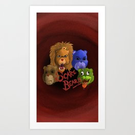 Scarebears Art Print