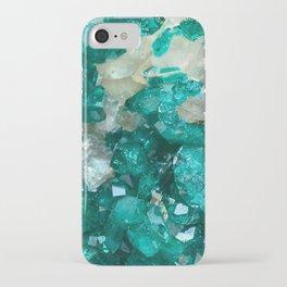 Teal Rock Candy Quartz iPhone Case