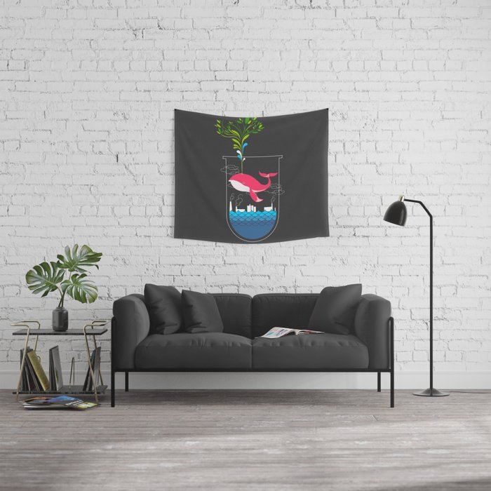 Nature Whale Wall Tapestry