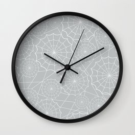 Spiderweb Pattern Wall Clock