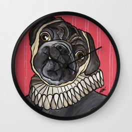 Sir Pugsley Wall Clock