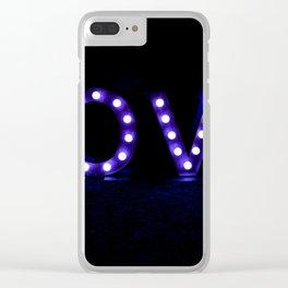 Love Blue Clear iPhone Case
