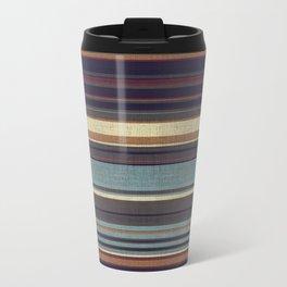 """Blue lines burlap"" Travel Mug"