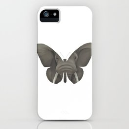 Elephant Butterfly iPhone Case