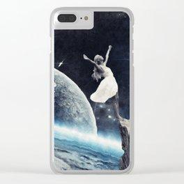 leap of faith Clear iPhone Case