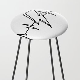 Bowie Heartbeat Counter Stool