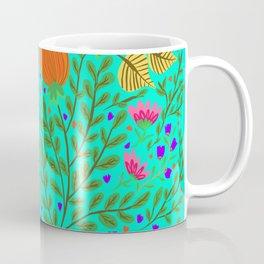 Tulip floral turquoise  Coffee Mug