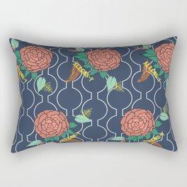 Allons-y Peony Floral Rectangular Pillow