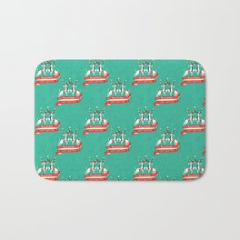 Christmas Deers with baubles Bath Mat