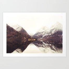 Fjord Reflection Art Print
