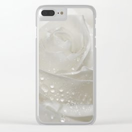 Rose white 0115 Clear iPhone Case