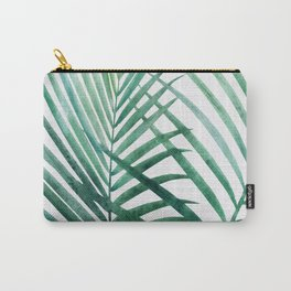 Emerald Palm Fronds Watercolor Carry-All Pouch