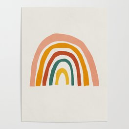 Rainbow, Mid century modern kids wall art, Nursery room Poster