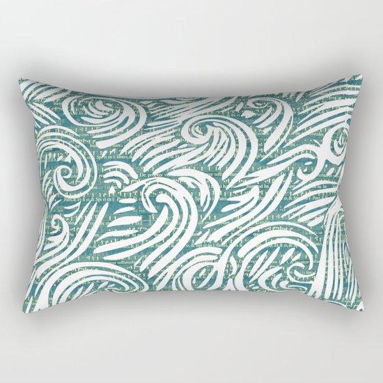 Music waves zen art print Rectangular Pillow