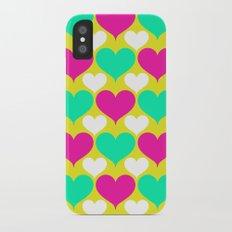 Happy hearts iPhone X Slim Case