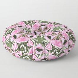 Kaleidoscopic flowers Floor Pillow
