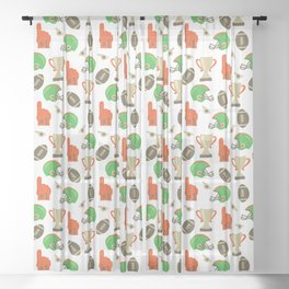 American Football pattern Sheer Curtain