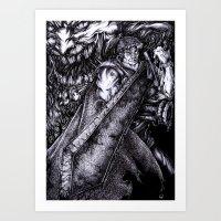 berserk Art Prints featuring Berserk by lcillustrations