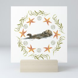 Sea Otter Mandala 1 - Watercolor Mini Art Print