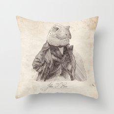 John T. Rex Throw Pillow