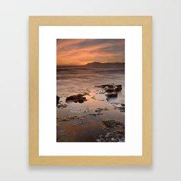 """Last red light"" Sunset at the sea Framed Art Print"