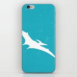 Pterodactyl Dinosaur Turquoise Blue iPhone Skin