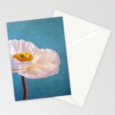 white poppy Stationery Cards