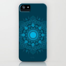 Blue Mandala #4 iPhone Case
