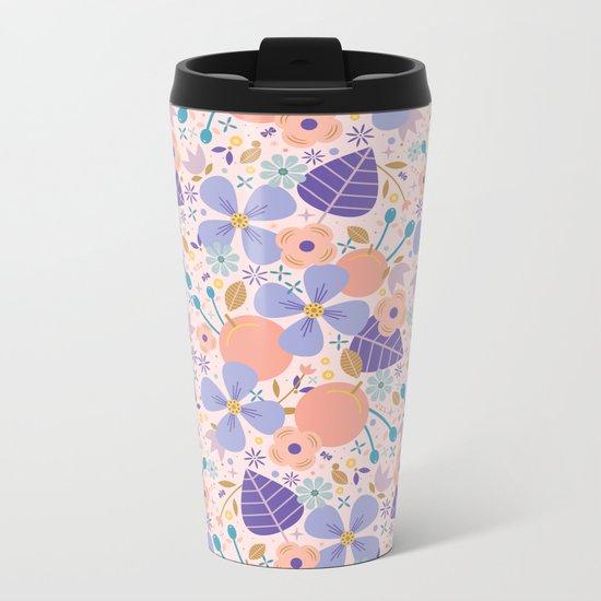 Just Peachy Metal Travel Mug