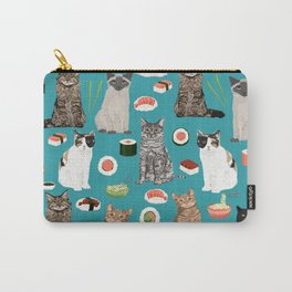 Cat breeds pure bred cats sushi kawaii pet gifts cat person must haves Carry-All Pouch