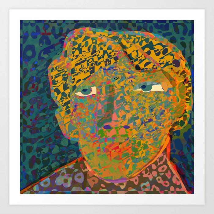 Contemporary David in the Jungle Zone Art Print
