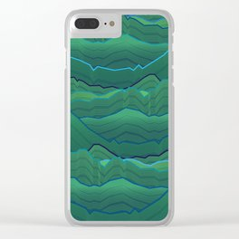 Wavescape lengthland Clear iPhone Case