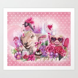 Dreaming of a Sweet Valentine Art Print
