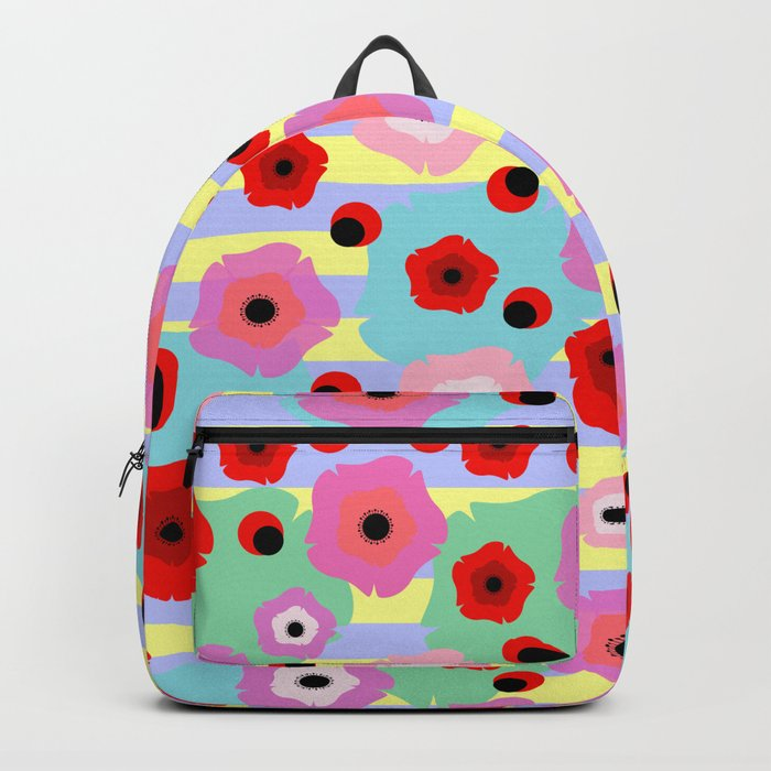 Poppies and stripes Backpack