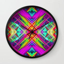 Colorful digital art splashing G475 Wall Clock