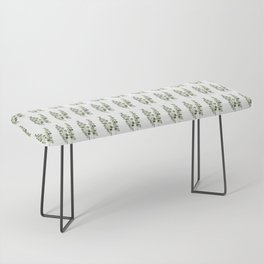 Eucalyptus (watercolor finger painting) Bench