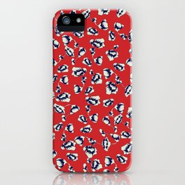 Accent on Red small Floral Print iPhone Case