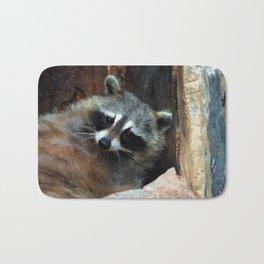 Raccoon Reclining Wildlife Photo Art Bath Mat