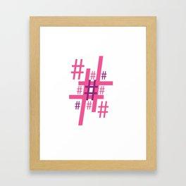 Hashtag Framed Art Print