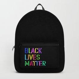Black Lives Matter Colorful Stencil 1 Backpack