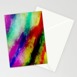 Colorful Abtract Paint Splats Stationery Cards