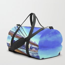 Brooklyn Bridge New York Art Duffle Bag