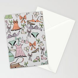 Getting dressed Stationery Cards