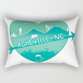 Asheville, NC - AVL 8 Green Rectangular Pillow