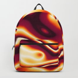 Bright Orange to Dark Orange Wavy Pattern Backpack