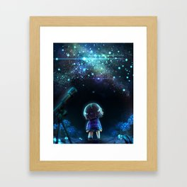 Starry (Night) Undertale Framed Art Print