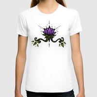 lotus flower T-shirts featuring Lotus by SkinnyGinny