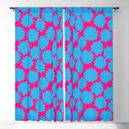 Pop Art Starburst // Blue & Pink Blackout Curtain